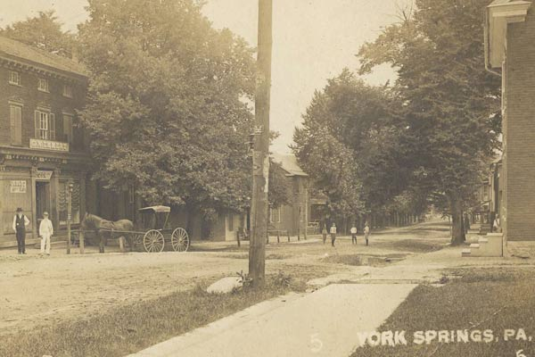 Postcard of Main Street, York Springs